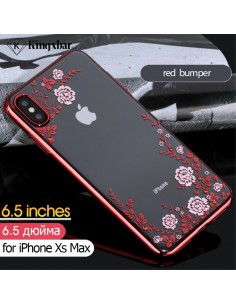 Coque silicone pour iPhone XS Max avec pierres Swarovski