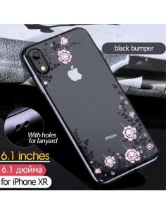 Coque silicone pour iPhone XR avec pierres Swarovski