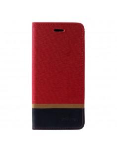 Etui Samsung portefeuille pour Galaxy J4+ et Galaxy J4 Prime Style tissus