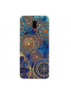 Coque silicone fantaisie pour Samsung Galaxy J6 Plus Mandala