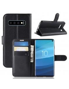 Etui Samsung portefeuille pour Galaxy S10 avec rangement