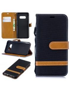 Etui Samsung portefeuille Galaxy S10E Tissus