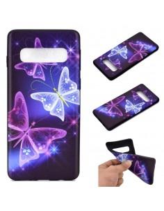 Coque silicone fantaisie pour Samsung Galaxy S10 - Papillons