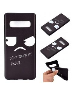Coque silicone fantaisie pour Samsung Galaxy S10 - Angry face
