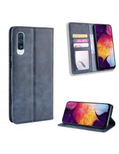 Etui Samsung portefeuille pour Samsung Galaxy A50 Style Vintage
