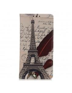 Etui Samsung portefeuille Samsung Galaxy A50 Tour Eiffel