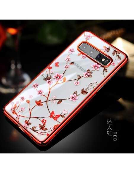 Coque silicone fantaisie Samsung Galaxy S10 de la marque Sulada Rouge