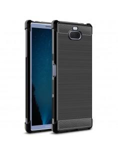 Coque antichoc silicone pour Sony Xperia 10 - IMAK - Aspect fibre de carbone
