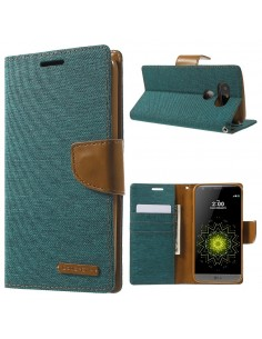 Etui portefeuille LG G5 avec rangements cartes - MERCURY