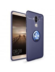 Coque silicone pour Huawei Mate 9 avec anneau en metal
