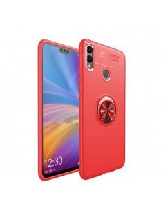Coque silicone pour Huawei Honor 8X et Honor View 10 Lite avec anneau en metal