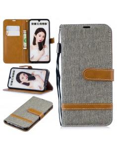 Etui portefeuille Huawei P Smart 2019 et Honor 10 Lite Style Jean