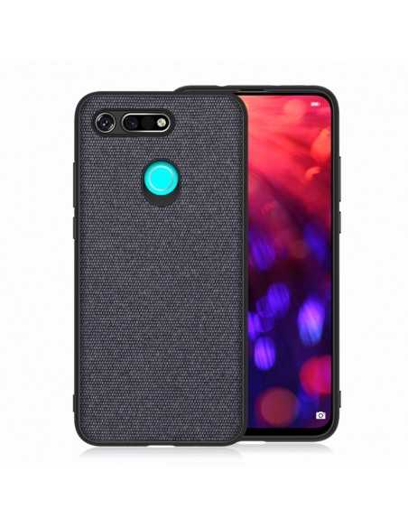 Coque silicone Huawei Honor View 20 et Huawei V20 Style tissus Bleu foncé