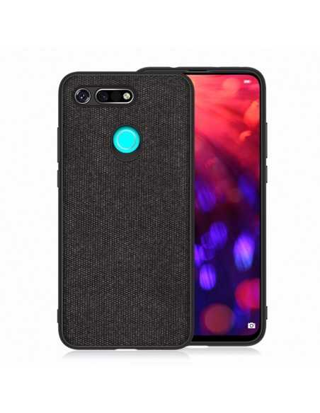 Coque silicone Huawei Honor View 20 et Huawei V20 Style tissus Noir