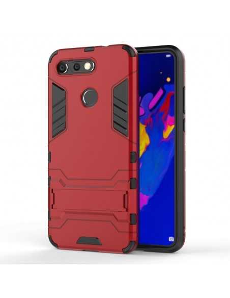 Coque antichoc Huawei View 20 et Huawei V20 avec support Rouge