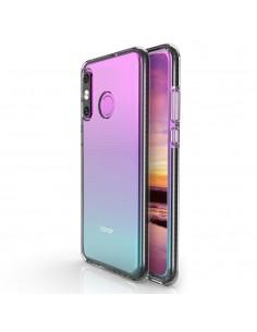 Coque silicone transparent Huawei P30 Lite avec bords colorés