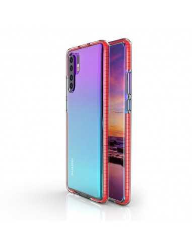 Coque Silicone transparent Huawei P30 pro avec bords colorés