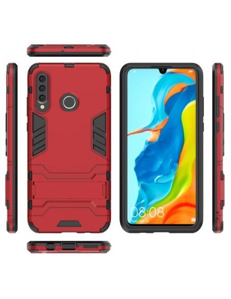 Coque antichoc Huawei P30 Lite avec support Rouge