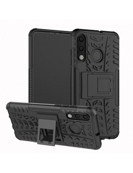 Coque antichoc Huawei P30 Lite Style Pneu avec support Noir