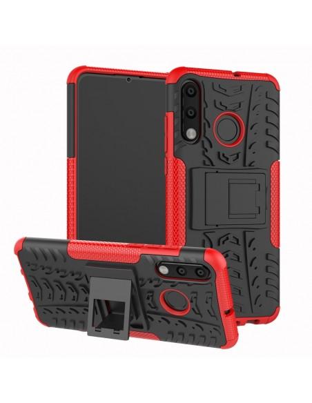 Coque antichoc Huawei P30 Lite Style Pneu avec support Rouge