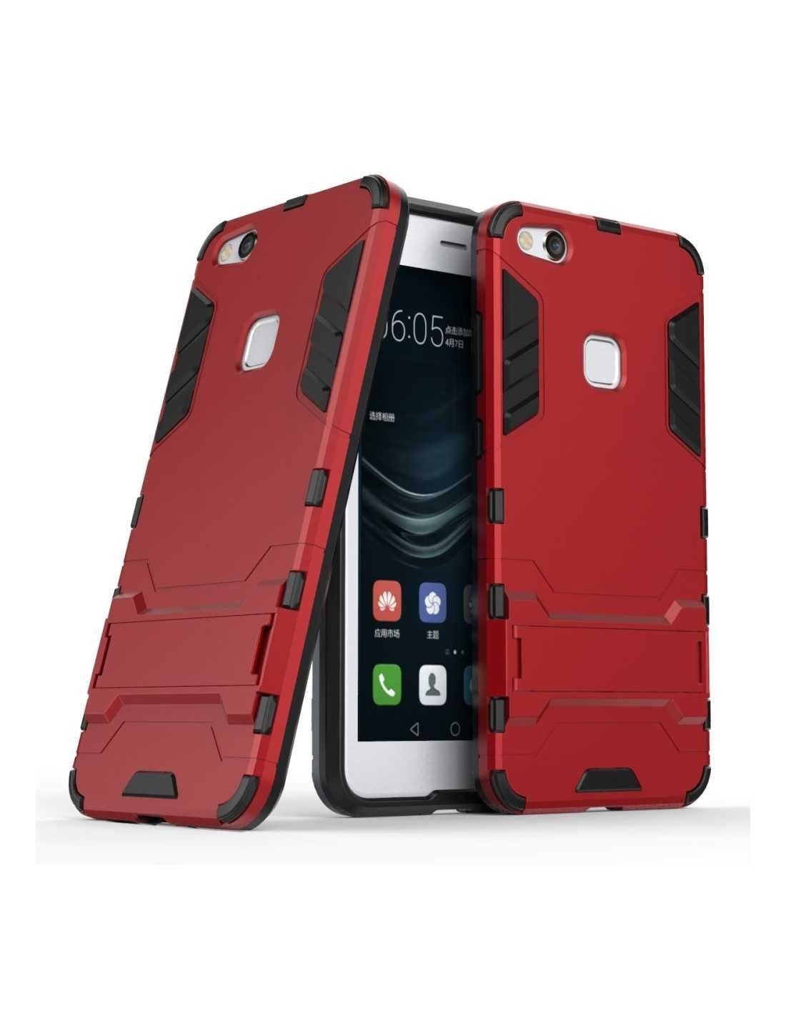 Coque antichoc Hybride Huawei P10 Lite Rouge