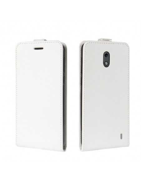 Etui Nokia 2 Style cuir Vertical Blanc