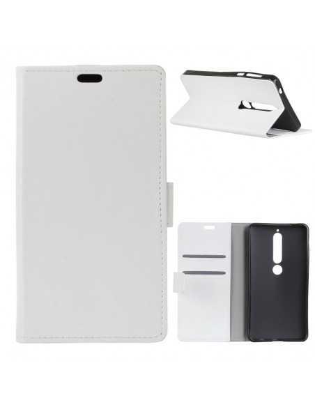 Etui portefeuille Nokia 6.1 avec rangements cartes Blanc