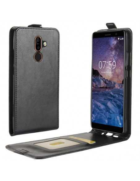 Etui vertical Nokia 7 Plus Simili Cuir Noir