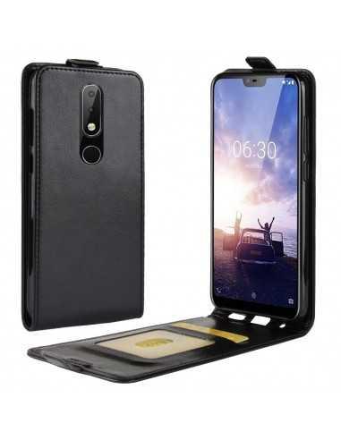 Etui vertical Nokia 5.1 Plus et Nokie X5 Crazy Horse