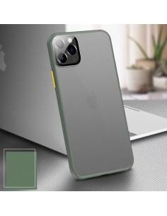 Coque aspect clear avec bords silicone antichocs iPhone X et iPhone XS Vert