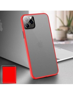 Coque aspect clear avec bords silicone antichocs iPhone X et iPhone XS Rouge