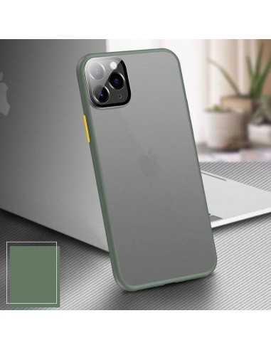 Coque aspect clear avec bords silicone antichocs iPhone XR Vert