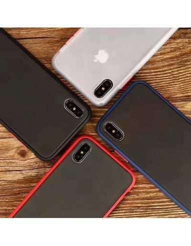 Coque aspect clear avec bords silicone antichocs iPhone XR Bleu