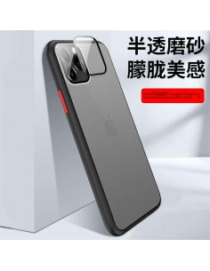 Coque aspect clear avec bords silicone antichocs iPhone 7 et iPhone 8 Noir