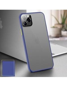 Coque aspect clear avec bords silicone antichocs iPhone 7 et iPhone 8 Bleu