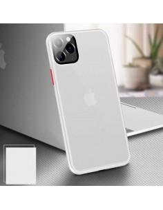 Coque aspect clear avec bords silicone antichocs iPhone 7 et iPhone 8 Transparent
