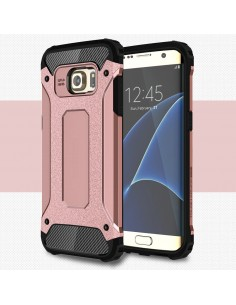 Coque antichoc Samsung Galaxy S7 edge hybride Cool armor Or Rose