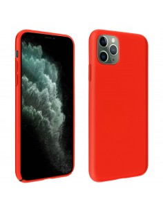 Coque silicone iPhone 11 Pro Max Semi rigide avec finition Cool Touch Rouge