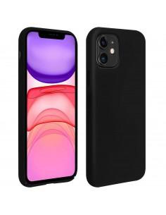 Coque silicone iPhone 11 Semi rigide avec finition Cool Touch Noir