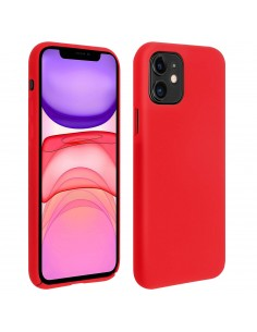 Coque silicone iPhone 11 Semi rigide avec finition Cool Touch Rouge