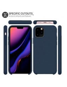 Coque silicone iPhone 11 Pro Max Semi rigide avec finition Cool Touch Bleu