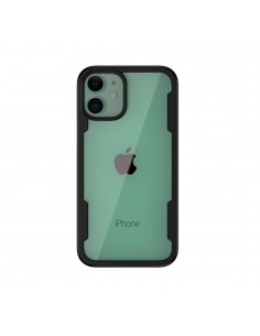 Coque antichoc iPhone 12 avec partie transparente - Noir