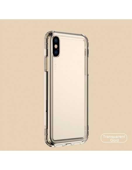Coque antichoc iPhone XS Max Transparent BASEUS - Or