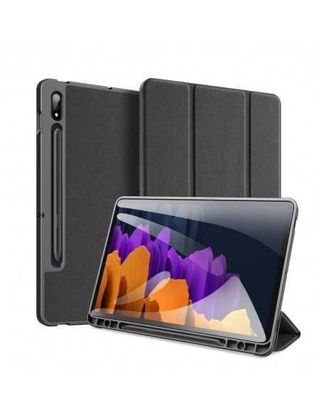 Housse de protection Galaxy Tab S7 avec support horizontale - Top design DUX DUCIS - Noir