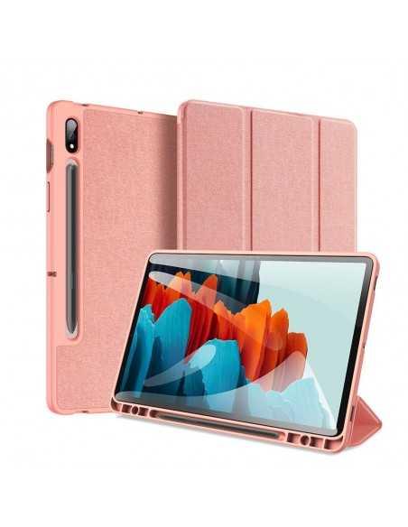 Housse de protection Galaxy Tab S7 avec support horizontale - Top design DUX DUCIS - Rose
