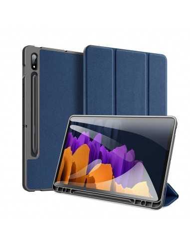 Housse de protection Galaxy Tab S7 avec support horizontale - Top design DUX DUCIS - Bleu